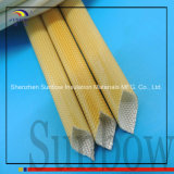 Sunbow bernsteinfarbiger Farbe PU-Polyurethan-umsponnenes Fiberglas Sleeving