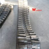 Trilha de borracha da máquina escavadora (300X52.5X76) com o Patten diferente para Yanmar, Kubota, lagarta
