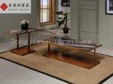 Квадратный журнальный стол с верхней частью мрамора природы и ногой нержавеющей стали