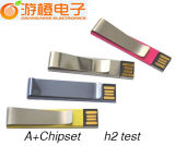 Logo Customized를 가진 Quality 높은 Metal Clip USB Flash Disk! (OM-M255)