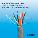Cable estándar de la red del hielo UTP Cat5e de la alta calidad