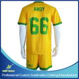 Vestiti comodi asciutti di calcio della squadra di Quicky di sublimazione su ordinazione di Digitahi