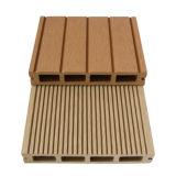 홈이 있는 WPC Decking 구렁 빛, 디자인 WPC 합성 목제 갱도지주, 목제 플라스틱 Decking 도와 (150H25-C)