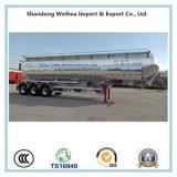 60cbm Semi Aanhangwagen van de Silo van het Vervoer van het Cement van de Cabine van het Aluminium van 3 As 72t de Dubbele Bulk