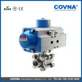 Edelstahl Pneumatic Control Actuator Ball Valve für Water Treatment