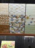 建築材料2540の青い波デザイン無作法な陶磁器の壁のタイル