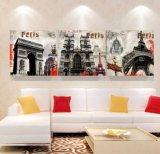 3 لون جدار فنية [أيل بينتينغ] باريس صورة زيتيّة منزل زخرفة يطبع نوع خيش صورة لأنّ يعيش غرفة يشكّل فنية [مك-261]