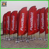 Bandierina di spiaggia eccellente di pubblicità esterna, bandiera della bandierina della vela, bandierina della piuma