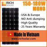 im Freien monokristalliner Sonnenkollektor 150W vietnamesischer 12V