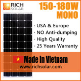 напольная Monocrystalline панель солнечных батарей 150W въетнамская 12V
