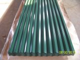 Azulejos de azotea de la onda de agua/hoja de acero prepintada del material para techos