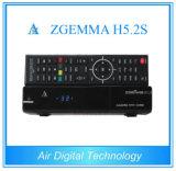 Zgemma H5.2s com 2 sustentação de Hevc do receptor satélite do linux dos afinadores E2 de X DVB-S/S2/H. 265