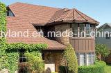 Azulejo de material para techos revestido de piedra del metal (azulejo clásico)