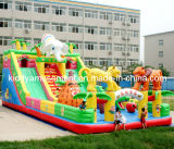 Amusement ParkのためのInflatable普及したToys Castle Slide Fun都市