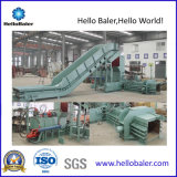 Máquina hidráulica horizontal da prensa de empacotamento da sucata para a planta de recicl