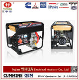 열려있는 5kw 5kVA 6kVA 전기 Portable 또는 침묵하는 공냉식 디젤 엔진 발전기