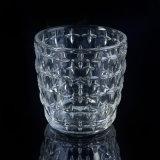 300ml釘によって浮彫りにされるパターンが付いているガラス蝋燭ホールダー