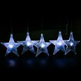 La lumière solaire de chaîne de caractères d'étoile du blanc 30 DEL pour le jardin décorent