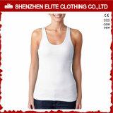 Signore che eseguono le magliette giro collo su ordine del cotone per ginnastica di donne (ELTWBJ-69)