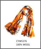 100% Wool 方法多彩な印刷された細長いスカーフ
