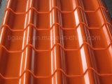 Feuille de toiture/panneau ondulé enduit d'une première couche de peinture de toiture en métal en Amérique du Sud