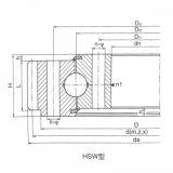 タワークレーンのローラー/球の組合せ外部ギヤスルーベアリング