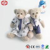 Urso encantador de harmonização da peluche do luxuoso dos brinquedos dos pares junto