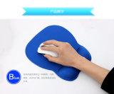 青いメモリ泡のマウスパッド