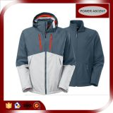 OEM Nylon 3 in-1 Softshell Black Jacket per Men