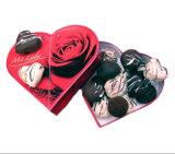 Caixa de presente do papel do cartão do chocolate da forma do coração de Whoesale
