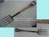 Вилка вилки сада вилки стальная с деревянными ручкой и сжатием