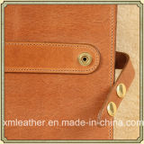 Portefeuille d'affaires/dépliant de fichier en cuir faits sur commande avec la garniture d'écriture