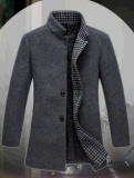 Шерсти способа средств длинних людей проложенные Ворот-Стоят пальто