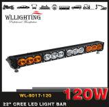 Singole barre chiare fuori strada chiare bianche dell'ambra LED 10-80V 120W 4X4 LED di riga IP68 per il camion Wl-8017-120 (LED-LIGHT-BAR)