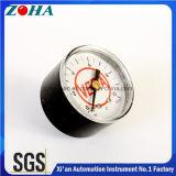 ABSプラスチックケースの正確さ2.5%の軸ミニチュア40mm/1.5のインチ10bar CのBourdon管の圧力計