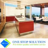 Alta mobilia degli armadi da cucina di rivestimento della lacca di lucentezza di nuovo colore bianco di disegno (ZY 1080)