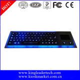 Teclado iluminado industrial do metal áspero com Touchpad (MKB-64A-TP-BL)