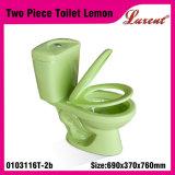 Suelo de Siphonic de la porcelana - armario de agua de dos piezas montado de Colourfull del servicio