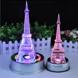 Материальное высокое качество K9 и красивейшая кристаллический Эйфелева башня цвета