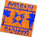 Sciarpa della signora Fashion Printed Square Silk (HC004-1)