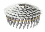 """1-1/4 """" clavo del material para techos de la bobina del acero inoxidable de la asta 304 del anillo del X. 120"""