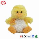 Colore giallo Huggable sveglio che si siede il giocattolo farcito molle dell'anatra della peluche