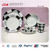 Vaisselle en céramique personnalisée Jsdp-011 de forme ronde d'étiquette)