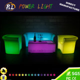 Controle Remoto PE Material LED Lighting Sofa Group Furniture