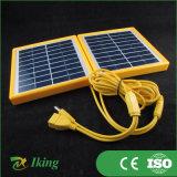 Petit panneau solaire 3.4W 9V avec le bâti en plastique jaune