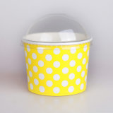 Dome Lid 의 Most Popular PE Coated Ice Cream Paper Cup를 가진 서류상 Ice Cream Cup