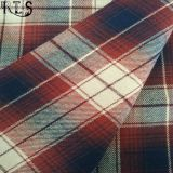 Tissu teint par filé tissé de flanelle de coton pour des chemises de vêtements/robe Rls21-3FL