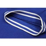 Chemise de polo bleue plate faite sur commande d'hommes des prix bon marché faits à l'usine