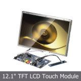 """12 """" TFT LCD SKD & frame aberto com écran sensível"""