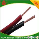 Cabo elétrico transparente do altofalante do fio do PVC do cabo gêmeo, fio do cabo elétrico de Rvb 2X1.5mm da alta qualidade da manufatura